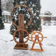 Деревянные штурвалы — декоративные