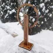 Деревянный штурвал большой — декоративный